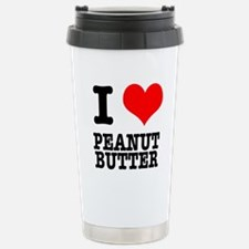 I Heart (Love) Peanut Butter Thermos Mug