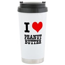 I Heart (Love) Peanut Butter Travel Mug