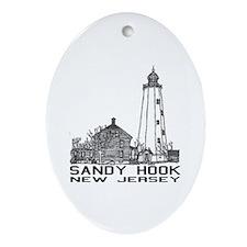 Sandy Hook NJ Oval Ornament