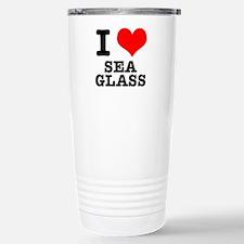 I Heart (Love) Sea Glass Travel Mug