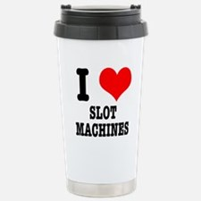 I Heart (Love) Slot Machines Stainless Steel Trave