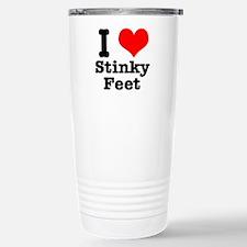 I Heart (Love) Stinky Feet Travel Mug