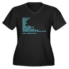Wargames Women's Plus Size V-Neck Dark T-Shirt
