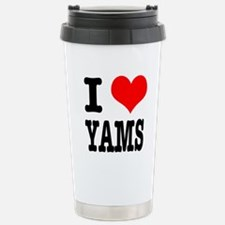 I Heart (Love) Yams Stainless Steel Travel Mug