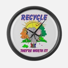 RECYCLE Large Wall Clock
