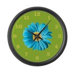 Pop Art Blue Daisy Large Wall Clock