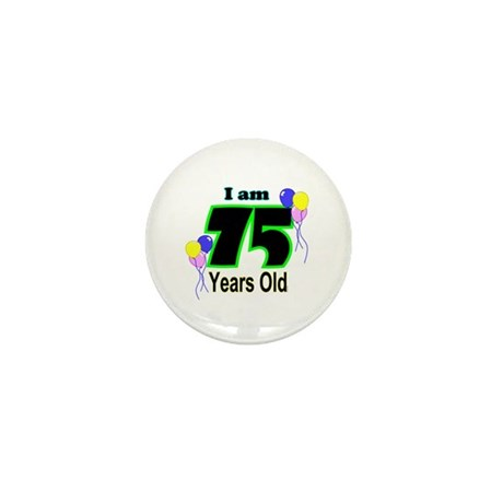 75th Birthday Mini Button (100 pack)