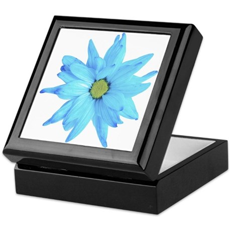 Bright Blue Flower Keepsake Box