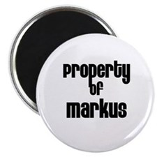 "Property of Markus 2.25"" Magnet (10 pack)"