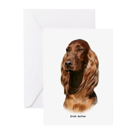 Irish Setter 9Y322D-116 Greeting Cards (Pk of 10)