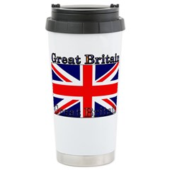Great Britain British Flag Stainless Steel Travel