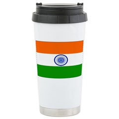 India Indian Blank Flag Travel Mug