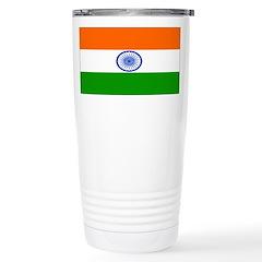 India Indian Blank Flag Travel Mug