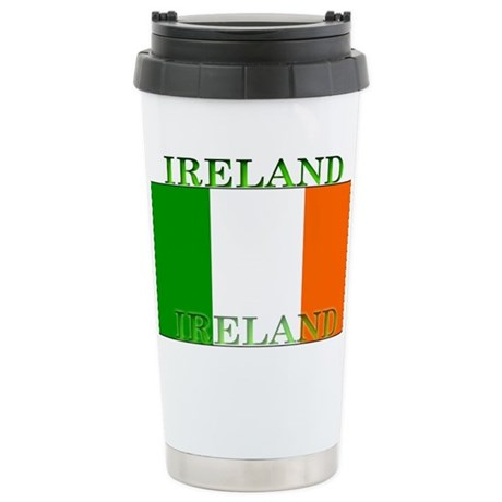 Ireland Irish Flag Stainless Steel Travel Mug