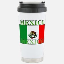 Mexico Mexican Flag Stainless Steel Travel Mug
