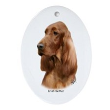 Irish Setter 9Y177D-97 Ornament (Oval)