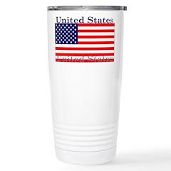 USA American Flag Travel Mug