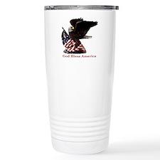 God Bless America Eagle Travel Mug