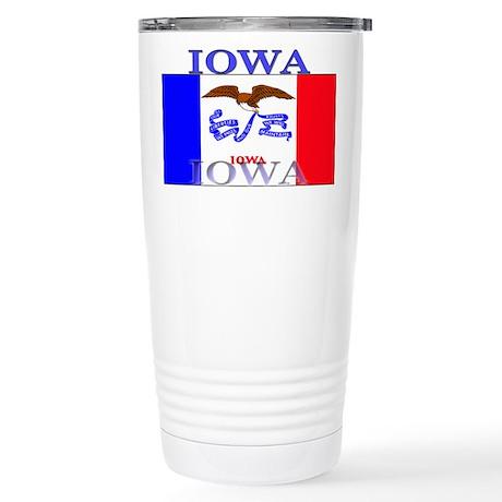 Iowa State Flag Stainless Steel Travel Mug