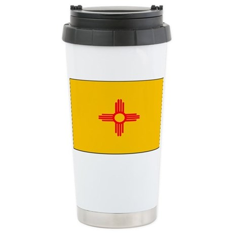 New Mexico Blank Flag Stainless Steel Travel Mug