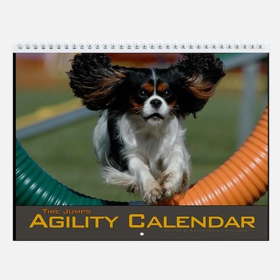 Small Agility Dog Tire Jump Wall Calendar