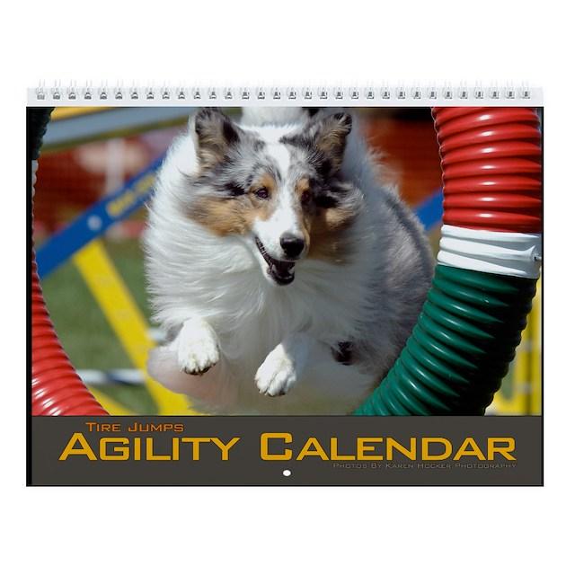 Agility Dog Tire Jump Wall Calendar By Khpstore