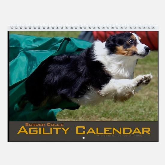 Border Collie Agility Wall Calendar II