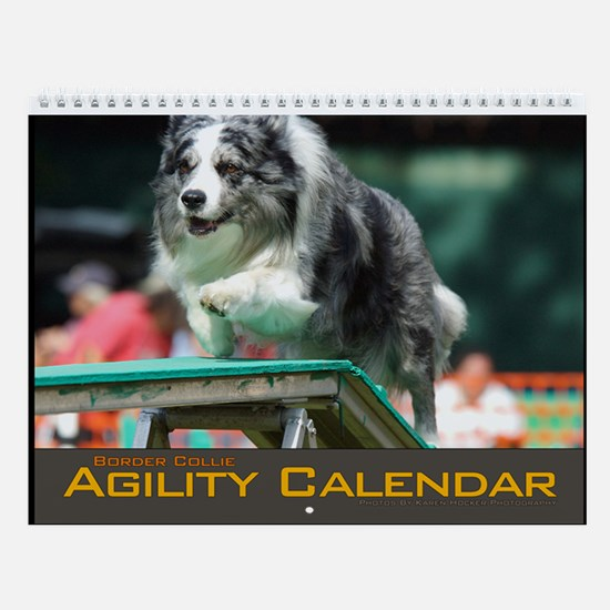 Border Collie Agility Wall Calendar III