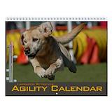 Dog sports agility Wall Calendars