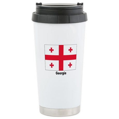 Georgia Flag Stainless Steel Travel Mug