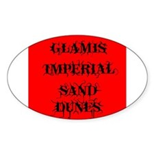 Glamis Red Oval Bumper Stickers