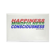 Happiness, Mindfulness, Consc Rectangle Magnet