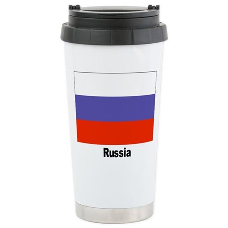 Russia Russian Flag Stainless Steel Travel Mug
