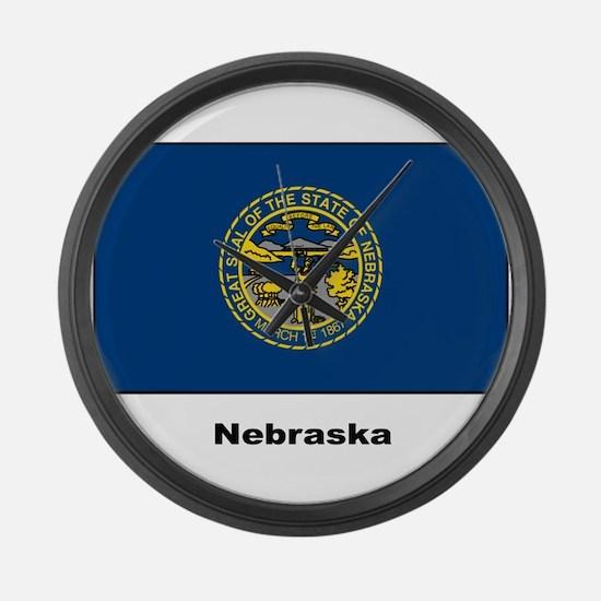Nebraska State Flag Large Wall Clock