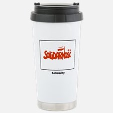 Solidarity Solidarnosc Flag Travel Mug