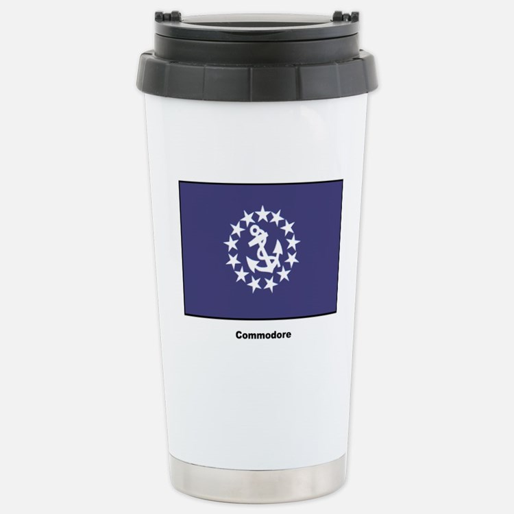 Commodore Flag Stainless Steel Travel Mug
