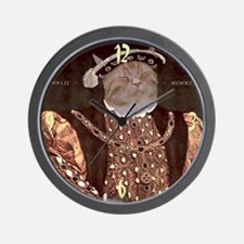 Cat HENRY VIII Wall Clock
