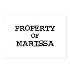 Property of Marissa Postcards (Package of 8)