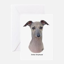 Italian Greyhound 9K75D-11 Greeting Card