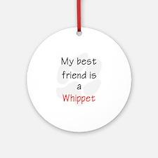 My Best Friend is a Whippet Keepsake (Round)