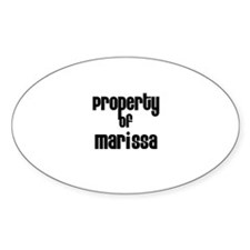 Property of Marissa Oval Decal