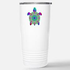 Colorful Sea Turtle Travel Mug