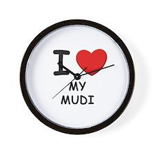 I love MY MUDI Wall Clock