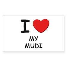 I love MY MUDI Rectangle Decal
