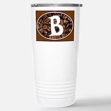 Letter B Stainless Steel Travel Coffee Mug