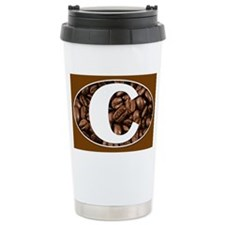 Letter C Stainless Steel Travel Coffee Mug