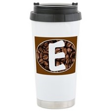 Letter E Monogrammed Stainless Steel Travel Coffee