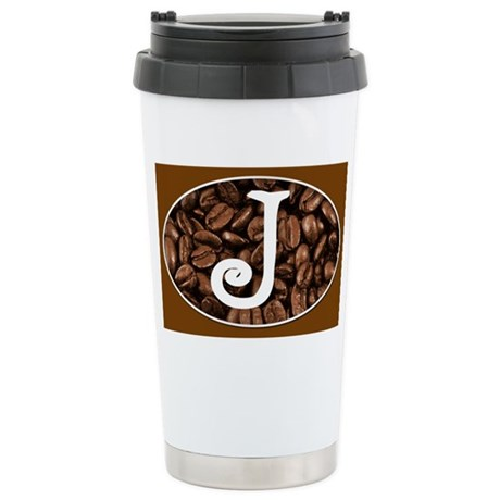 Initial J Coffee Mug Stainless Steel Travel Mug
