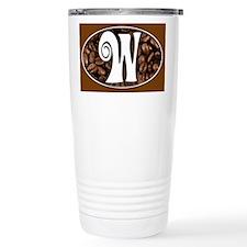 Initial W Travel Coffee Mug Travel Mug