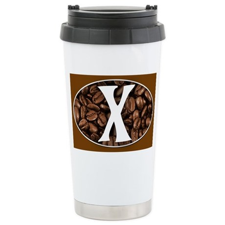 Letter X Travel Coffee Mug Stainless Steel Travel